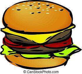 ハンバーガー, イラスト