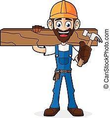 ハンマー, 木, handyman, 板, 保有物