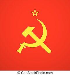 ハンマー, 組合, ソビエト, 鎌, ussr, ロシア, シンボル