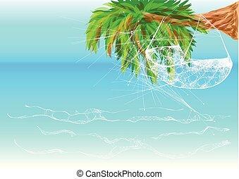 ハンモック, 浜, ハワイ