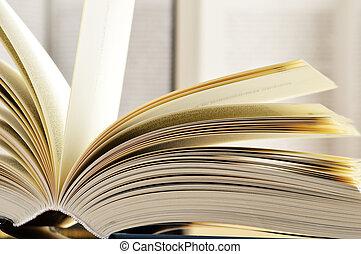 ハードカバー, 本, 構成, 図書館