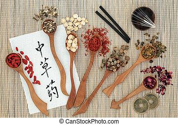 ハーブ, 伝統的である, 中国語