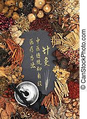 ハーブ, 療法, 中国語, moxibustion