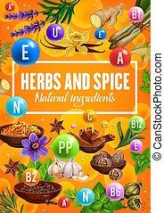 ハーブ, 調味料, スパイス, 自然, ビタミン