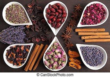 ハーブ, spices.