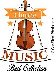 バイオリンお辞儀, 音楽, アイコン, クラシック