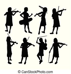 バイオリン奏者, シルエット