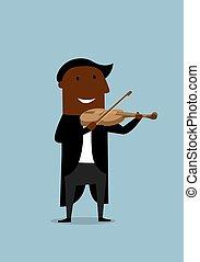 バイオリン奏者, バイオリン, 音楽家, 遊び