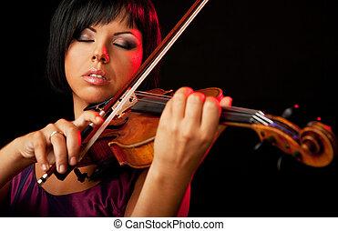 バイオリン奏者, 女