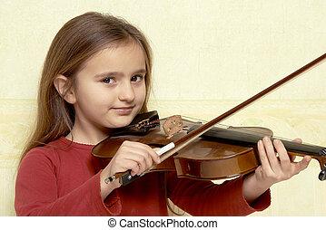 バイオリン奏者, 若い