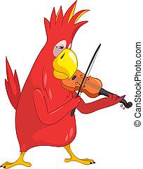 バイオリン奏者, 面白い, parrot.
