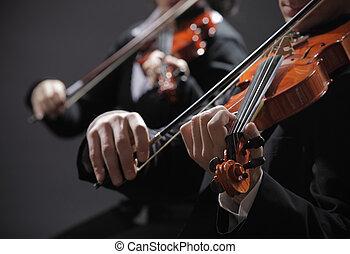 バイオリン奏者, music., コンサート, 古典である