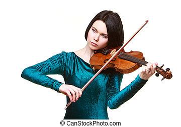 バイオリン, 女の子, 白