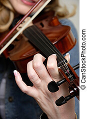 バイオリン, 女, 遊び