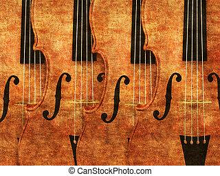 バイオリン, 横列