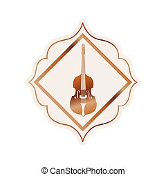 バイオリン, 道具, ベクトル, ミュージカル, アイコン