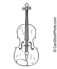 バイオリン, 隔離された, アウトライン