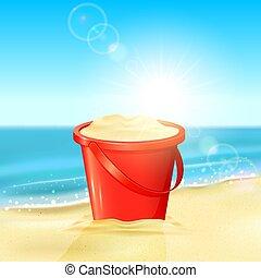 バケツ, 砂ビーチ