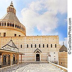 バシリカ, イスラエル, お告げの祝日, 教会, nazareth, お告げの祝日