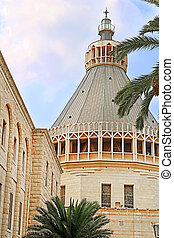バシリカ, イスラエル, ドーム, お告げの祝日, 教会, nazareth, お告げの祝日