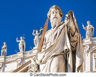 バシリカ, 使徒, st. ポール, ピーター, 彫刻
