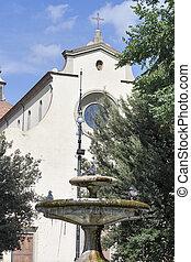 バシリカ, 神聖, 噴水, 前部, 精神, フィレンツェ