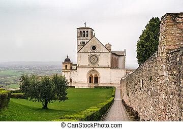 バシリカ, assisi, イタリア, st. 。, francis