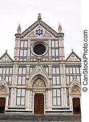 バシリカ, croce, イタリア, 神聖, ∥ディ∥, franciscan, (basilica, -, cross), 有名, santa, 教会, フィレンツェ