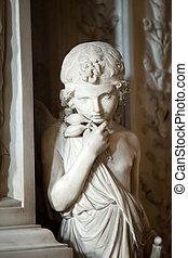 バシリカ, croce, -, santa, 内部, フィレンツェ