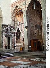 バシリカ, -, croce., santa, baroncelli, フィレンツェ, チャペル