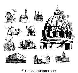バジル, 大聖堂, ベクトル, 聖者, イラスト