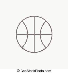 バスケットボールボール, 線, icon.