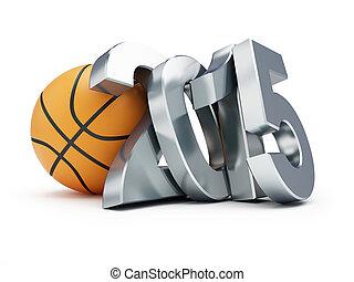 バスケットボールボール, 2014, 上に, a, 白い背景