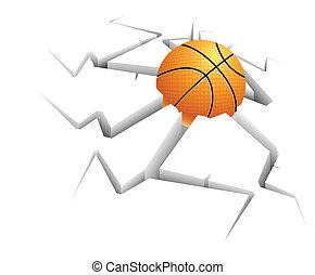 バスケットボール, まだ, 背景