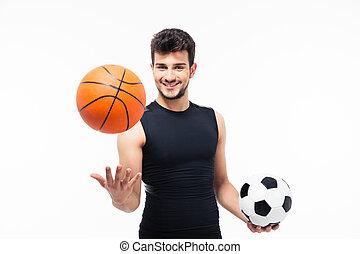 バスケットボール, スポーツ, ボール, 保有物, サッカー, 人