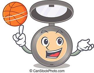 バスケットボール, デザイン, 漫画, マスコット, 運動, highlighter