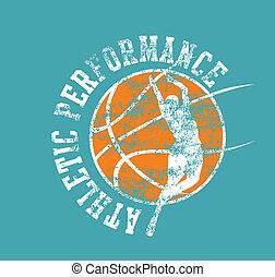 バスケットボール, 大学, ベクトル, 芸術, スポーツ
