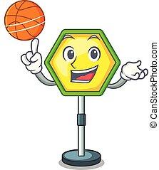 バスケットボール, 特徴, 印, 警告, 交通, regulatory