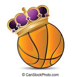 バスケットボール, 王冠, ボール