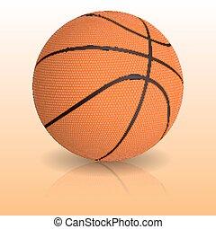 バスケットボール, 現実的, ベクトル, ball.