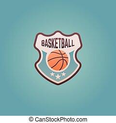バスケットボール, 紋章, 保護, ベクトル, チームスポーツ