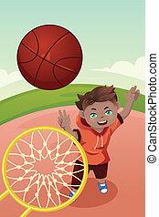 バスケットボール, 遊び, 子供