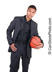 バスケットボール, african american, プレーヤー