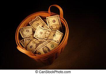バスケット, お金