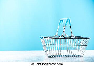 バスケット, コピースペース, 買い物
