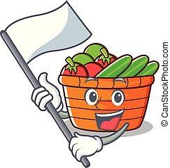 バスケット, 旗, フルーツ, 特徴, 漫画