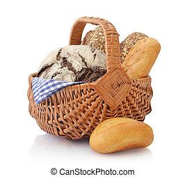 バスケット, 枝編み細工, 回転する, bread