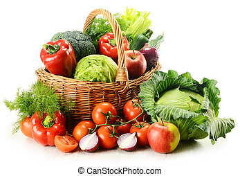 バスケット, 枝編み細工, 野菜