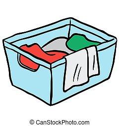 バスケット, 洗濯物