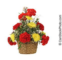 バスケット, 花